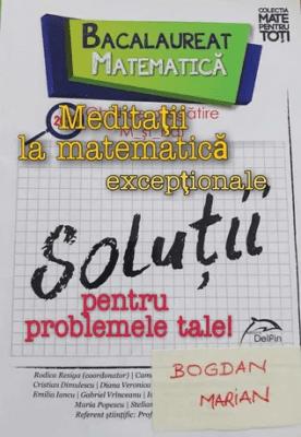 Meditatii Matematica Bucuresti - Sectorul 5 Marian Bogdan