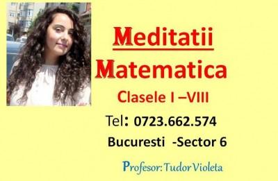 Meditatii Matematica Bucuresti - Sectorul 6 Tudor Violeta
